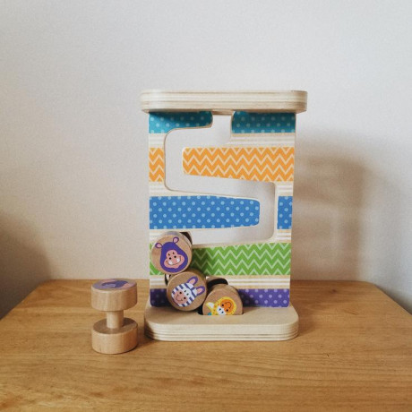 wooden-zig-zag-tower-with-four-rolling-pieces-big-0